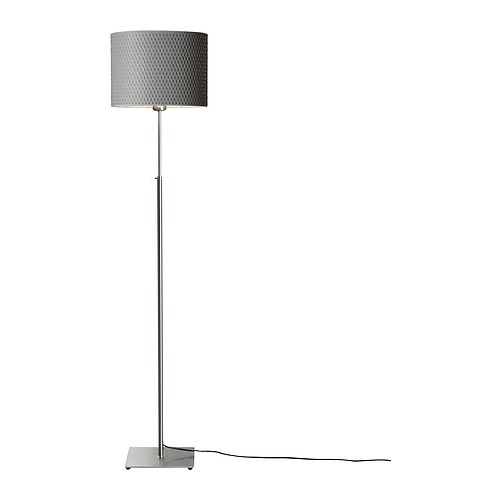 ALÄNG Floor lamp, nickel plated, gray - 001.908.30