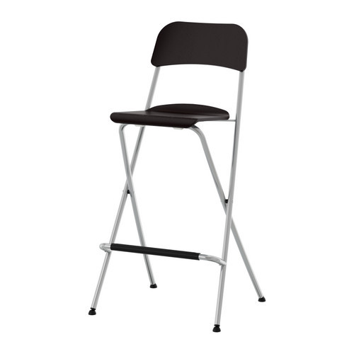 Enjoyable Franklin Bar Stool With Backrest Foldable Brown Black Gmtry Best Dining Table And Chair Ideas Images Gmtryco