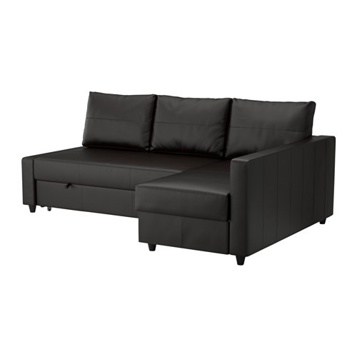 FRIHETEN Sofa bed with chaise, Bomstad black - 202.623.69