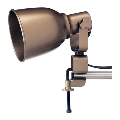 HEKTAR Wall/clamp spotlight, bronze color