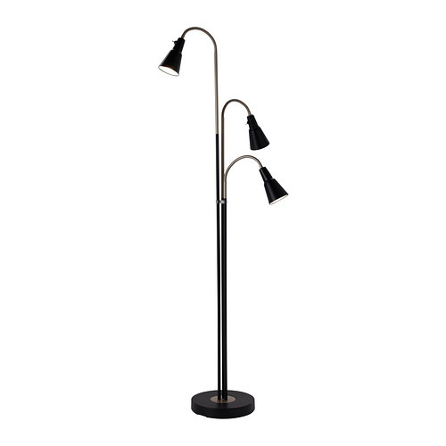 KVART Floor lamp with 3-spotlights, black - 102.260.27