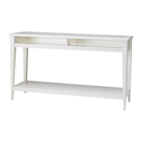 LIATORP Sofa table, white, glass - 001.050.64