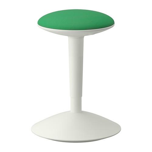 NILSERIK Stool, white, Vissle green - 602.795.70