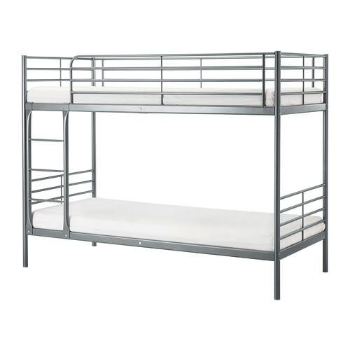 SVÄRTA Bunk bed frame, silver color - 202.479.77