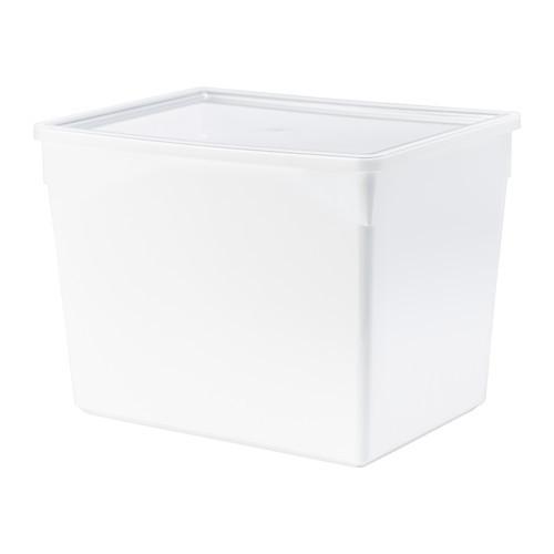 TILLSLUTA Dry food jar with lid, white - 202.574.95