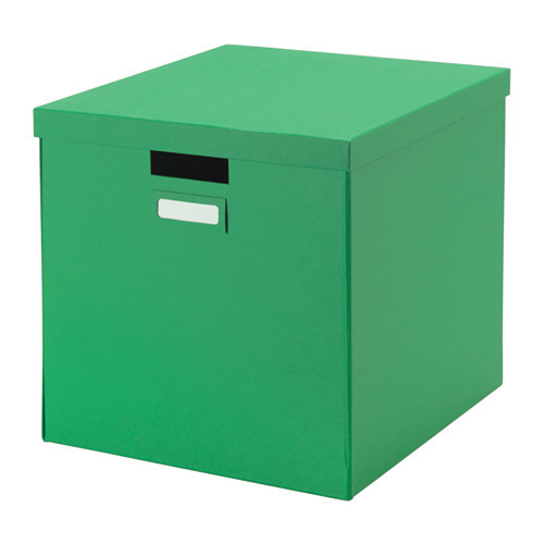 TJENA Box with lid, green - 802.919.91