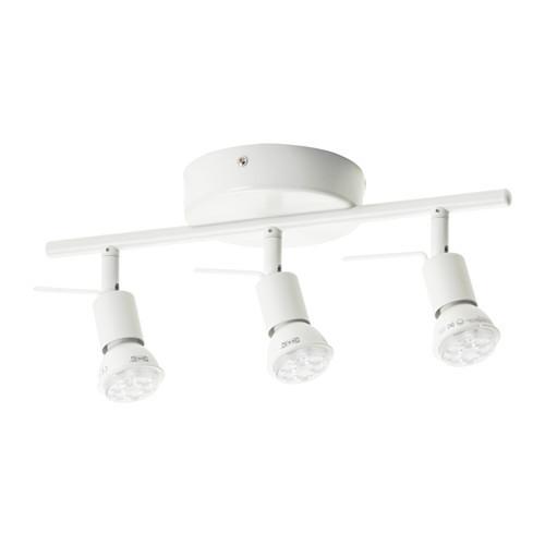 TROSS Ceiling track, 3 spotlights, white - 802.626.63