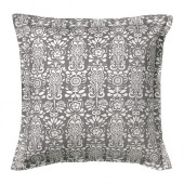 ÅKERKULLA Cushion cover, gray/white - 402.812.77