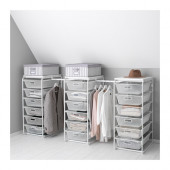 ALGOT Frame/mesh baskets/rod for frames, white - 290.685.27