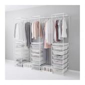 ALGOT Frame/mesh baskets/rod for frames, white - 890.685.29