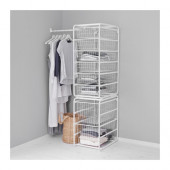 ALGOT Frame/wire baskets/rod, white - 499.174.10