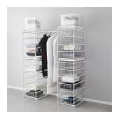 ALGOT Frame/wire baskets/rod, white - 099.041.17