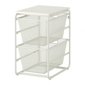 ALGOT Frame with 2 mesh baskets/top shelf, white - 999.127.64