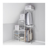 ALGOT Frame with rod and wire baskets, white - 590.698.70