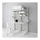 ALGOT Post/foot/shelves, white - 390.177.02
