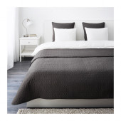 ALINA Bedspread and 2 cushion covers, dark gray - 001.626.48