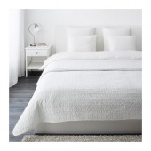 ALINA Bedspread and 2 cushion covers, white - 101.626.38