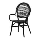 ÄLMSTA Chair, rattan, black - 802.340.19