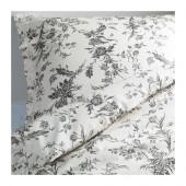 ALVINE KVIST Duvet cover and pillowcase(s), white, gray - 201.596.35