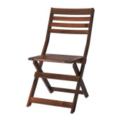 ÄPPLARÖ Chair, outdoor, brown foldable brown stained brown stained - 102.085.37