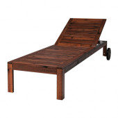 ÄPPLARÖ Chaise, brown stained brown - 902.085.43