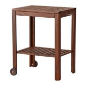 ÄPPLARÖ / KLASEN Serving cart, outdoor, brown stained - 490.484.06