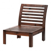 ÄPPLARÖ One-seat section, outdoor, brown stained brown - 602.051.88