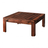 ÄPPLARÖ Table/stool section, outdoor, brown stained brown - 802.134.46