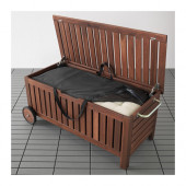 ÄPPLARÖ / TOSTERÖ Bench with storage bag, outdoor, brown stained - 190.540.12