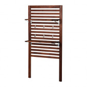 ÄPPLARÖ Wall panel+2 shelves, outdoor, brown stained brown - 498.989.68