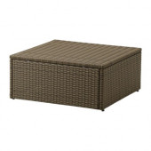 ARHOLMA Table/stool, outdoor, brown - 301.477.17