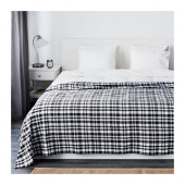 BACKVIAL Bedspread, black, white - 002.830.23