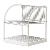 BESTÅENDE Dish drainer, silver color, white - 902.339.67