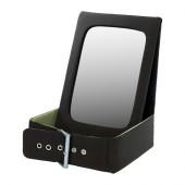 BETRAKTA Table mirror with storage, black, green - 302.379.11