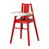 BLÅMES Highchair with tray, red - 901.690.04