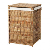 BRANÄS Laundry basket with lining, rattan - 202.147.31
