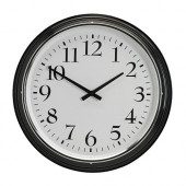 BRAVUR Wall clock, black - 600.989.75