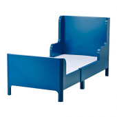 BUSUNGE Extendable bed, medium blue - 402.743.52