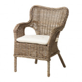 BYHOLMA / MARIEBERG Chair, gray, Laila natural - 698.968.88