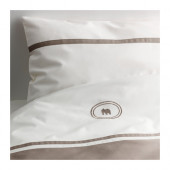 CHARMTROLL Crib duvet cover/pillowcase, beige, white - 902.899.97