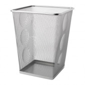 DOKUMENT Wastepaper basket, silver color - 801.532.54