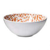 DRIFTIG Bowl, patterned orange - 002.347.54