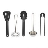 DUKTIG 5-piece kitchen utensil set, multicolor - 801.301.68