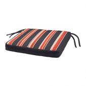 EKERÖN Chair pad, outdoor, black, stripe - 502.852.89