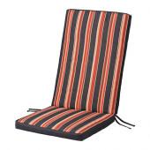 EKERÖN Seat/back pad, outdoor, black, stripe - 402.852.99