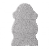 FÅRDRUP Faux sheepskin, gray - 302.944.97