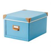 FJÄLLA Box with lid, blue - 402.699.54