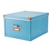 FJÄLLA Box with lid, blue - 702.699.57