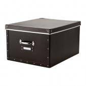 FJÄLLA Box with lid, brown - 502.699.58