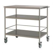 FLYTTA Kitchen cart, stainless steel - 000.584.87